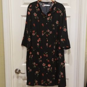 JustFab Drop-waist Dress - fits like 1X